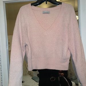 Urban Outfitters Cropped V-Neck Sweater!